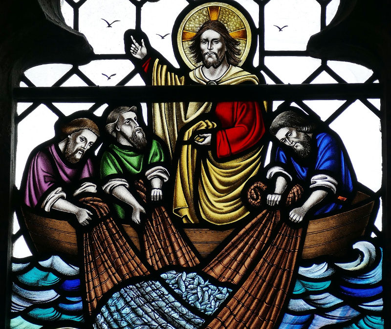 Jesus und die Jünger am See