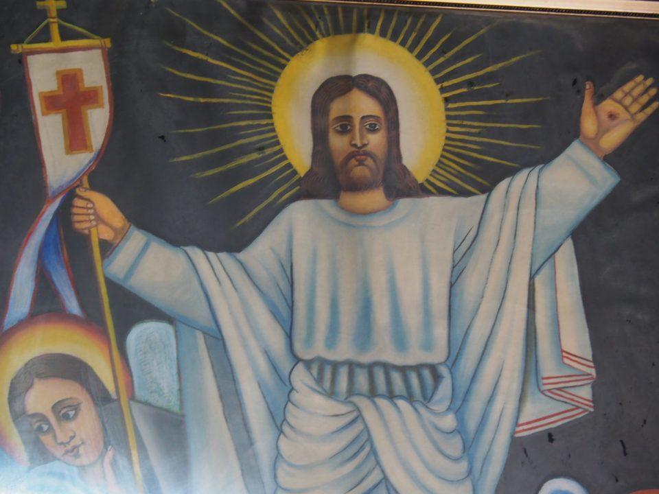 Der Auferstandene in der Grabeskirche von Jerusalem